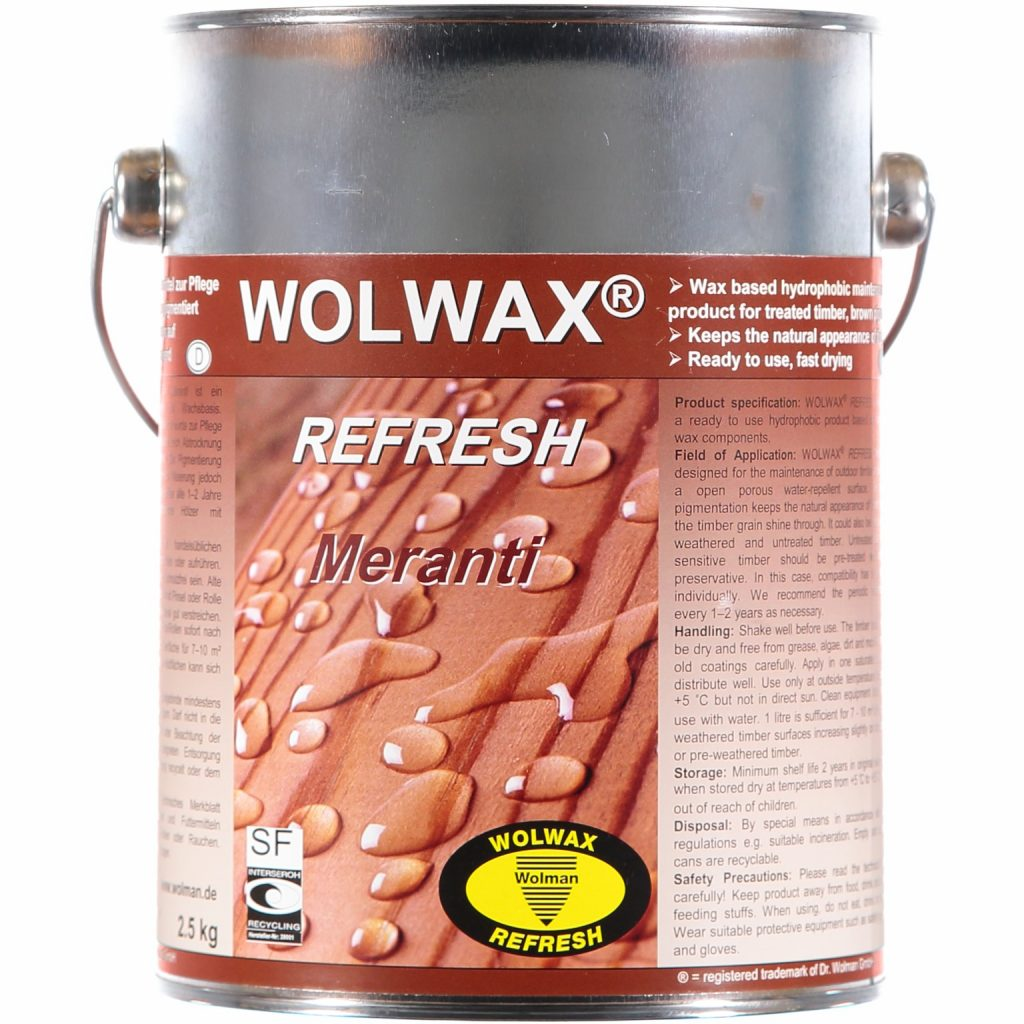 Drömprodukten: Träolja Meranti Wolwax 2,5l